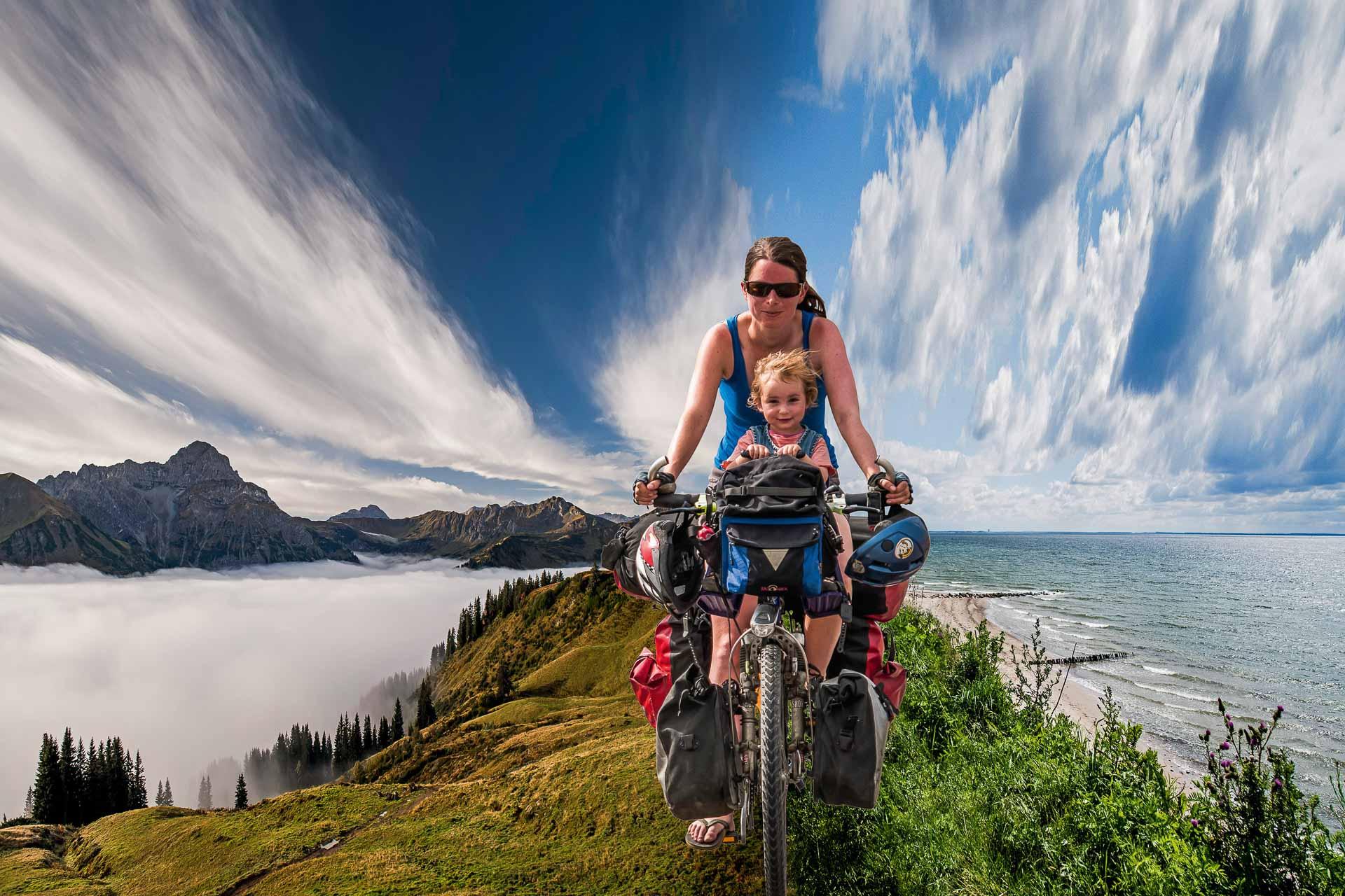 Mit dem Fahrrad von den Bergen ans Meer