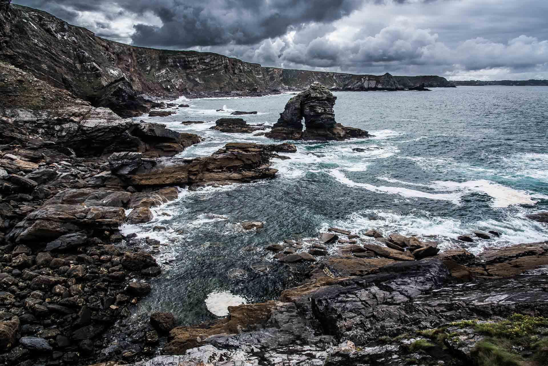 Raue Küsten der Bretagne