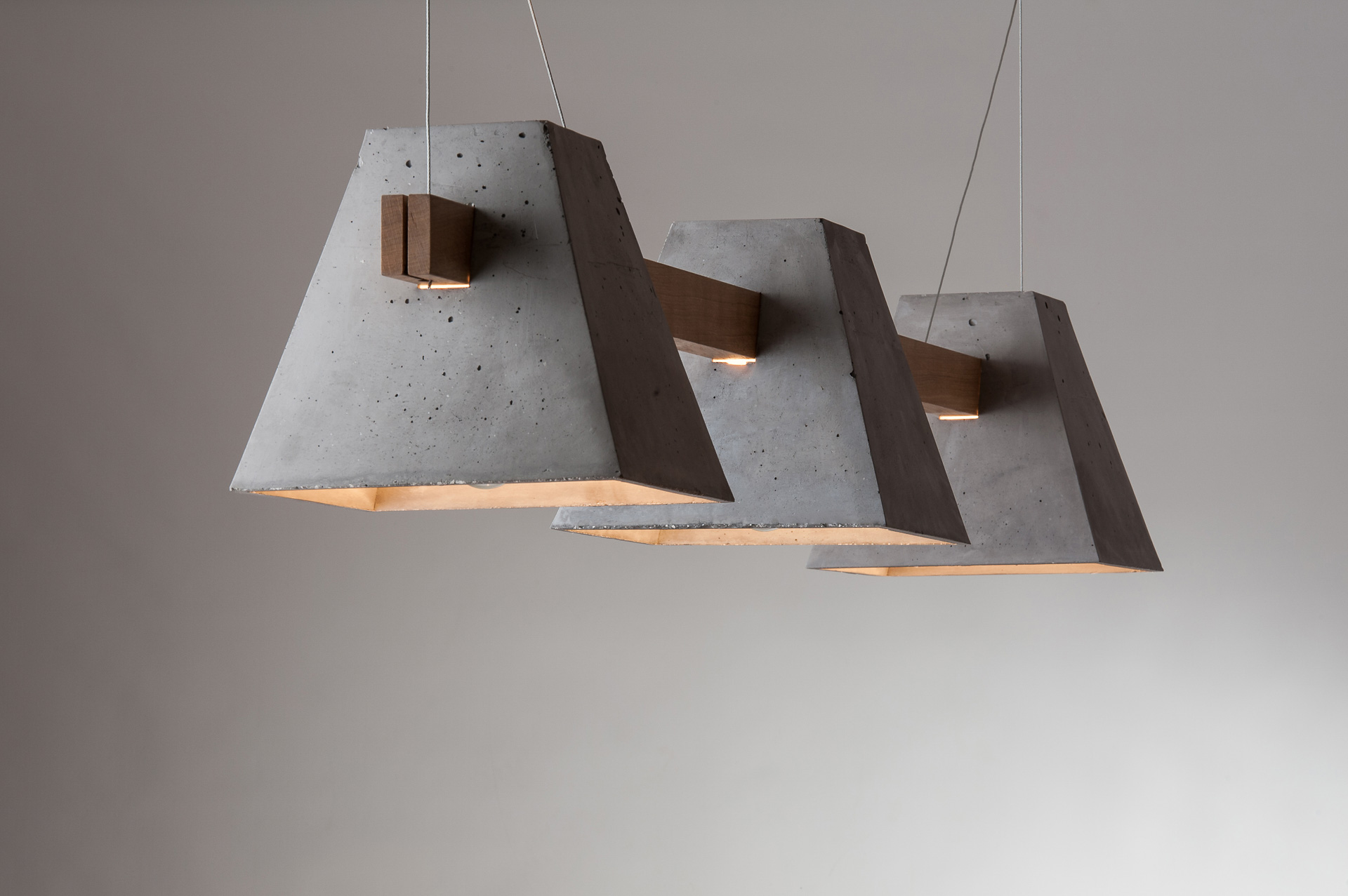 Designlampen in Beton